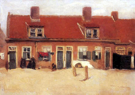 Max Liebermann - Houses in Scheveningen
