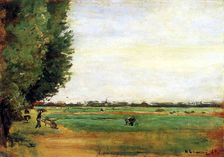 Max Liebermann - Dutch landscape with poplars