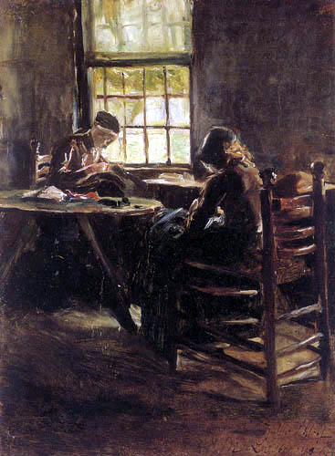 Max Liebermann - Holländisches Interieur, Nähstube