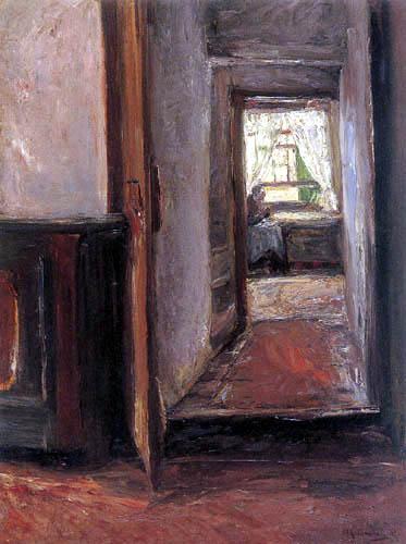 Max Liebermann - Interieur eines Bauernhauses