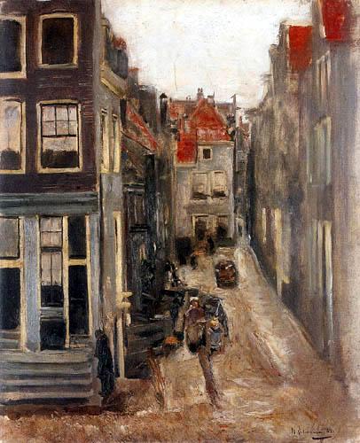 Max Liebermann - Judengasse in Amsterdam