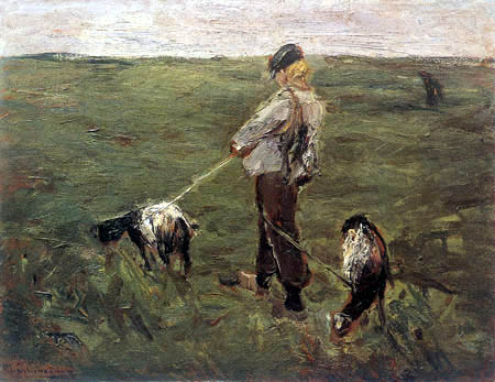 Max Liebermann - Boy with goats