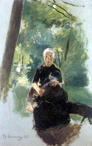 Max Liebermann - Young mother under trees