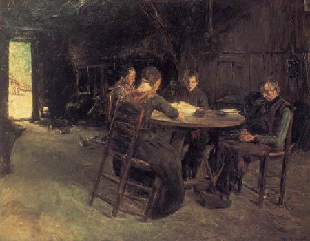 Max Liebermann - Ostfriesische Bauern beim Tischgebet