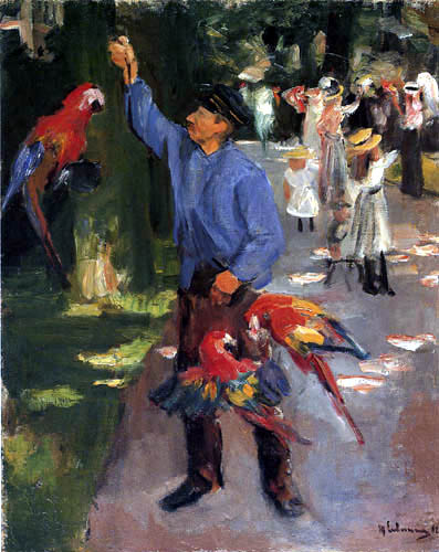 Max Liebermann - Parrot man in the zoo of Amsterdam