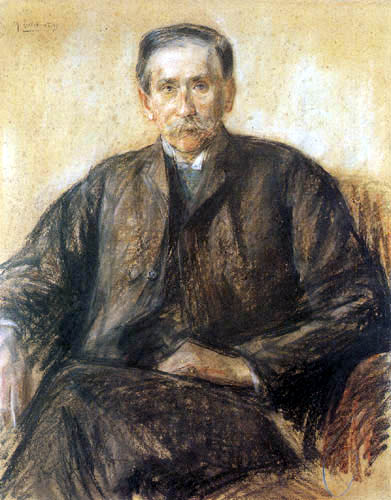 Max Liebermann - Portrait of count Keyserling