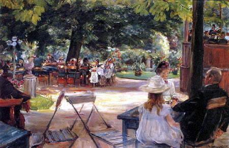 Max Liebermann - Beer garden