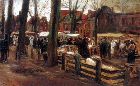 Max Liebermann - Pig market in Haarlem