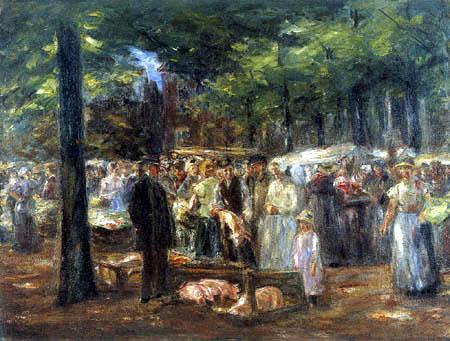 Max Liebermann - Schweinemarkt in Haarlem II