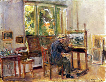 Max Liebermann - Selfportrait in the studio