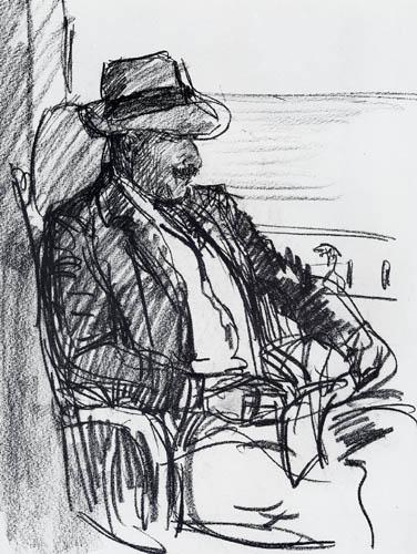 Max Liebermann - Selfportrait with straw hat