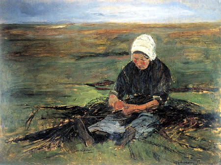 Max Liebermann - Sitting woman