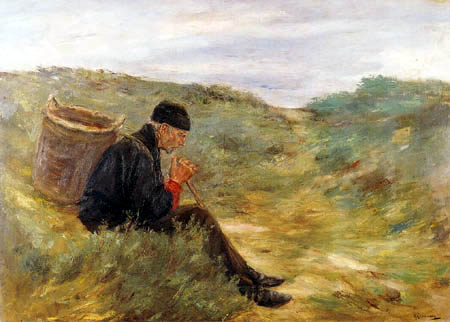 Max Liebermann - Farmer in the dunes
