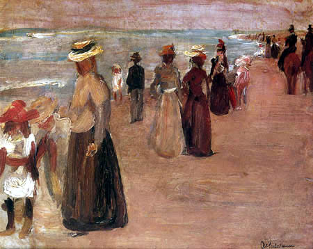 Max Liebermann - Promenader at the sea