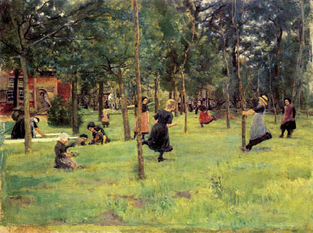 Max Liebermann - Playing children