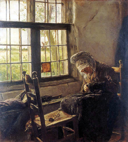 Max Liebermann - Old Woman in the Window