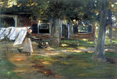 Max Liebermann - Vor dem Waschhaus