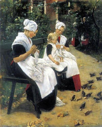 Max Liebermann - Waisenmädchen im Garten, Amsterdam