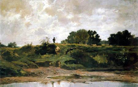Adolf Lier - Sommertag in den Weiden