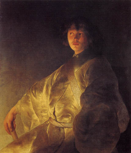 Jan Lievens (Livens) - Selfportrait in a yellow garb