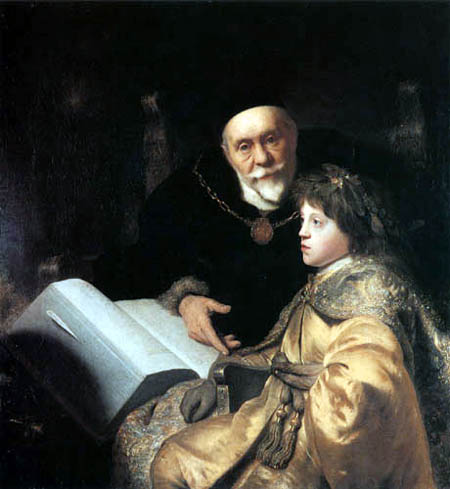 Jan Lievens (Livens) - Prince Charles Ludwig avec son enseignant