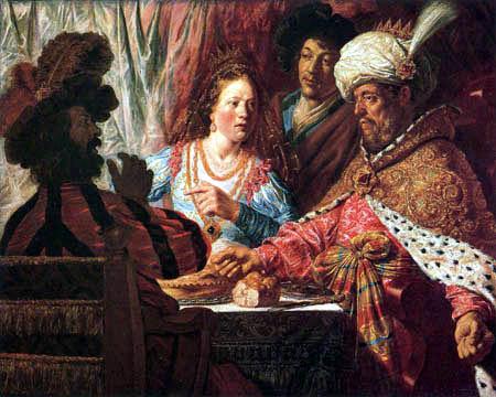 Jan Lievens (Livens) - Le banquet de Esther
