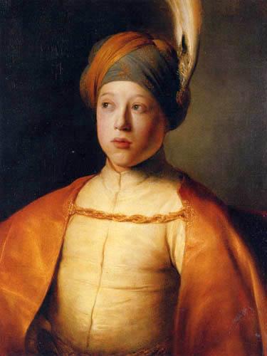 Jan Lievens (Livens) - Portrait d'un garçon dans la robe persane