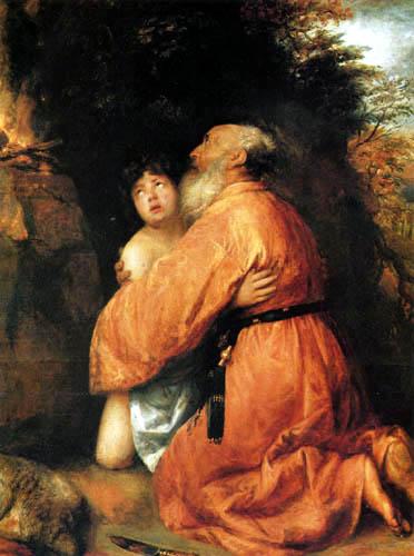 Jan Lievens (Livens) - Abraham und Isaak umarmen einander