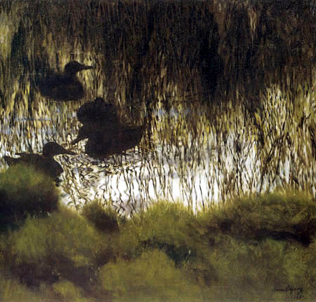 Bruno Liljefors - Ducks in the reeds