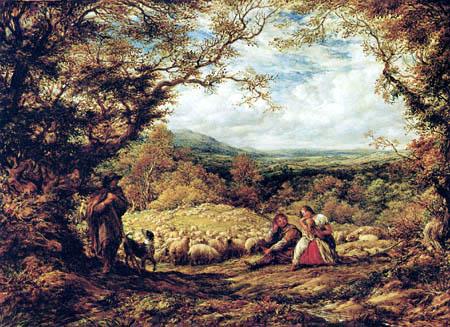 John Linnell - Flock of sheep