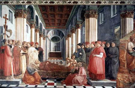 Fra Filippo Lippi - Das Begräbnis des hl. Stephanus
