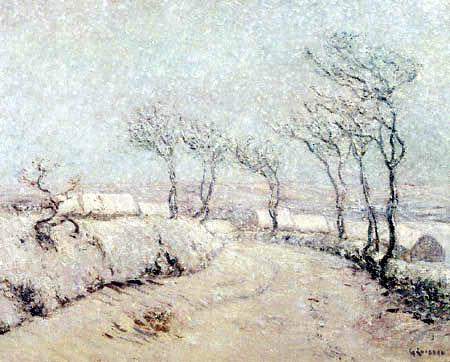 Gustave Loiseau - Snow Landscape