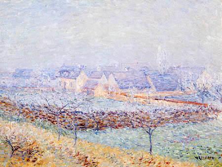 Gustave Loiseau - Village in spring