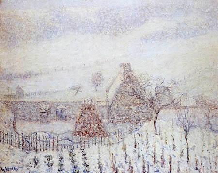 Gustave Loiseau - Snowstorm near Hédouville