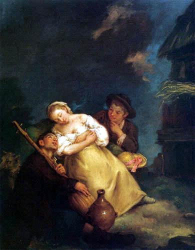 Pietro Longhi - The sleeping farmer's wife