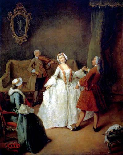 Pietro Longhi - Die Tanzstunde