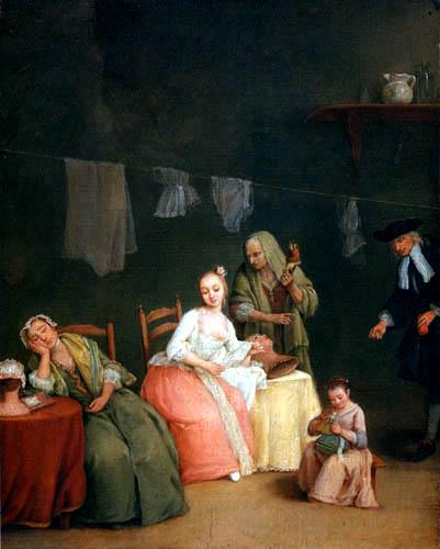 Pietro Longhi - The Millinery Shop