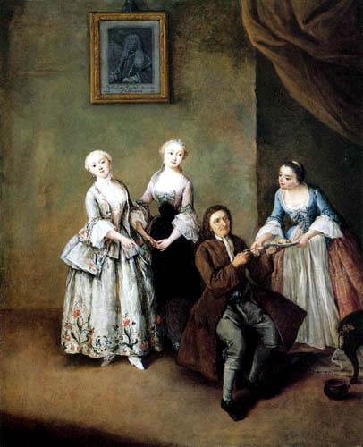 Pietro Longhi - The sisters Sagredo
