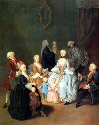Pietro Longhi - Portrait of a family