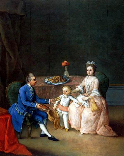 Pietro Longhi - Ein Paar mit Kind