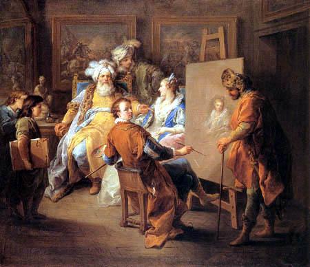 Carle van Loo - The pasha lets paint his mistress