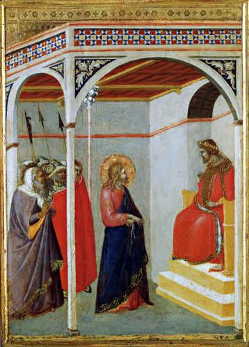 Pietro Lorenzetti - Christ Before Pontius Pilate
