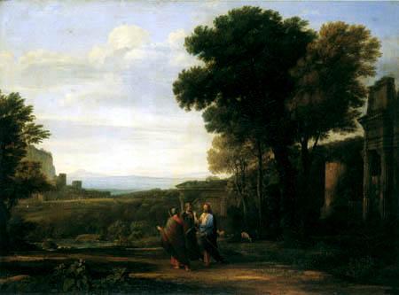 Claude de Lorraine - Le Christ sur la voie après des Emmaus