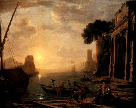 Claude Lorrain - Morgen im Hafen