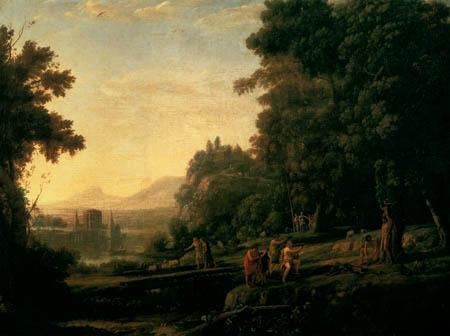Claude Lorrain - Landschaft mit Apollon und Marsyas