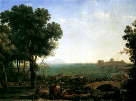 Claude Lorrain - Schlacht an der Brücke