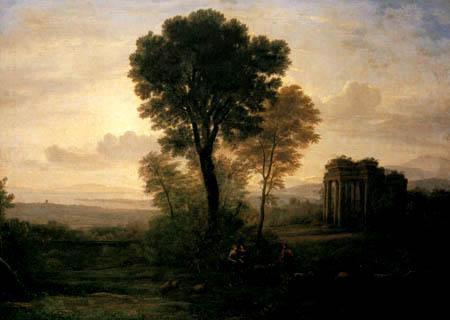 Claude Lorrain - Jakob, Rahel und Lea am Brunnen