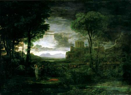 Claude Lorrain - Landschaft mit Jakob dem Engel