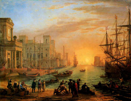 Claude Lorrain - Seehafen bei Sonnenuntergang