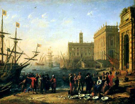 Claude Lorrain - Hafen mit dem Kapitol